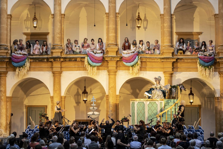 Bühnenszene von Amor Und Psyche in Schloss Eggenberg